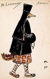 Costume pour « Renard » - Michel Larionov